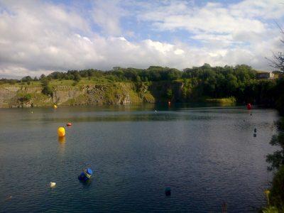 Capernwray Triathlon Swim location