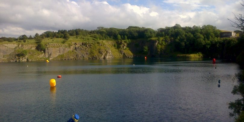 Capernwray Triathlon Swim location